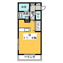 新築 四日市中川原アパート[3階]の間取り