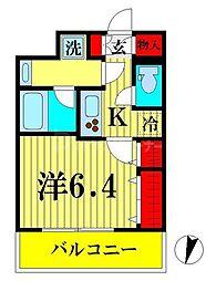 JR総武線 両国駅 徒歩9分の賃貸マンション 8階1Kの間取り