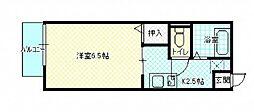 広島県広島市佐伯区五月が丘1丁目の賃貸アパートの間取り