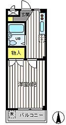 東京都武蔵野市吉祥寺北町1丁目の賃貸マンションの間取り