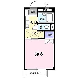 カ−サ・ソレア−ド[205号室]の間取り