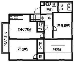 リッチネス阪南C棟[1階]の間取り