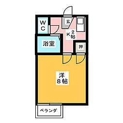 神戸ハイツ[1階]の間取り