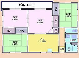 ユタカホーム[2F号室]の間取り