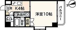 アンソレイユ舟入南[4階]の間取り