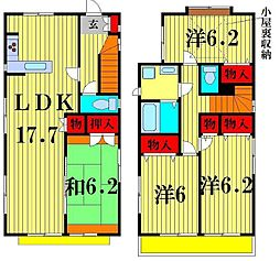 [一戸建] 千葉県松戸市常盤平6丁目 の賃貸【/】の間取り