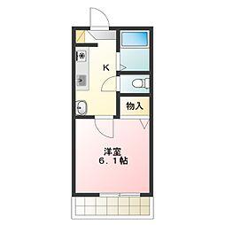 パティオ桜[1階]の間取り