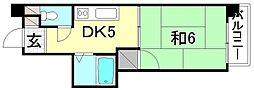 セントラルハイツ(北条)[206 号室号室]の間取り