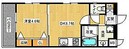 京都府京都市中京区壬生西桧町の賃貸マンションの間取り