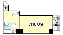 朝日プラザ新神戸[603号室]の間取り