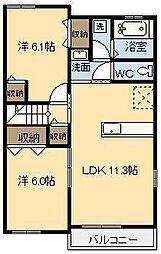 プランドールM Ⅳ[2階]の間取り