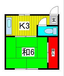 和風荘[102号室]の間取り