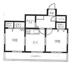 神奈川県横浜市中区山元町1丁目の賃貸マンションの間取り
