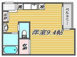 埼玉県蕨市南町3丁目の賃貸アパートの間取り