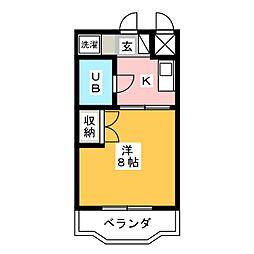 静岡県浜松市東区小池町の賃貸マンションの間取り