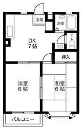 埼玉県川越市砂の賃貸アパートの間取り