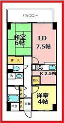 ロータス21[10階]の間取り