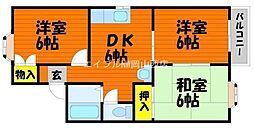 タウングラティアIIB[2階]の間取り