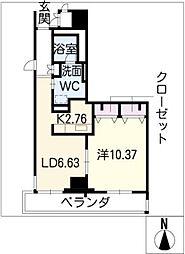 レジディア東桜II(南向)[7階]の間取り