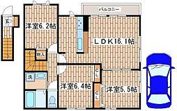 ラフィーネ須磨VII[2階]の間取り