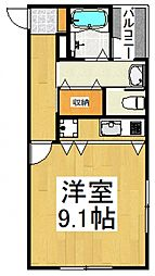 PARK VIEW勝田台[1階]の間取り