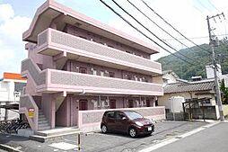 岡山県岡山市北区津高の賃貸マンションの外観