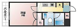 WOBFUKUSIMA[5階]の間取り