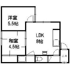 笹川マンション[202号室]の間取り
