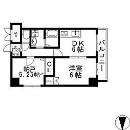 HERITAGE高井田(ヘリテイジ)[207号室号室]の間取り