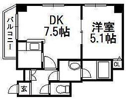 WELLSIDE T 451[3階]の間取り