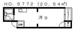 エム・ケイ2天王寺[3階]の間取り