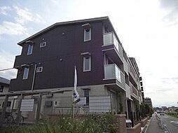 東京都日野市東豊田2丁目の賃貸アパートの外観