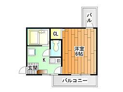 ツインツリー[3階]の間取り