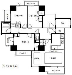 ジオ住吉本町[7階]の間取り