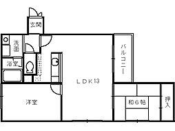 アレグレット高石[3階]の間取り