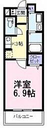 大阪府大阪市住吉区帝塚山西3丁目の賃貸マンションの間取り