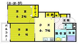 メゾンドフローラ3[1階]の間取り