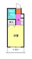 L−VINA朝霞[4階]の間取り