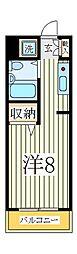 ピュア天王台マンション[2階]の間取り