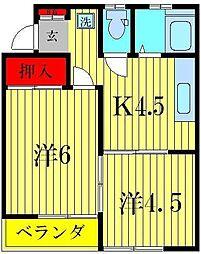 エステートナカヤマ[1階]の間取り