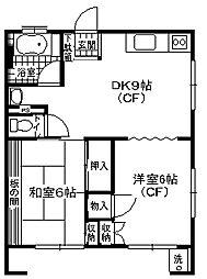 神奈川県横須賀市二葉1丁目の賃貸マンションの間取り