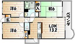 トーカンマンション高炉台公園[7階]の間取り