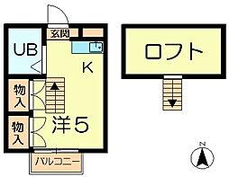 シングルモア[1階]の間取り