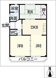杉野ハイツ[1階]の間取り