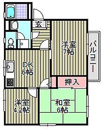 シエスタ[2階]の間取り