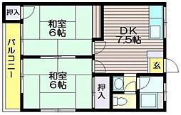 コーポオビュレンス[2階]の間取り