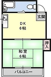 Stable勧修寺[203号室号室]の間取り