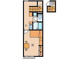 レオパレス K SPIRIT 葵[2階]の間取り