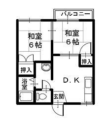 メゾン・ド・エル[2階]の間取り