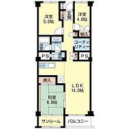 北海道札幌市中央区宮の森四条11丁目の賃貸マンションの間取り